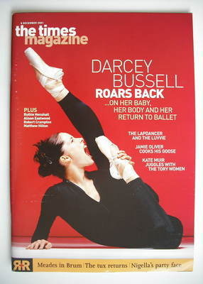<!--2001-12-08-->The Times magazine - Darcey Bussell cover (8 December 2001