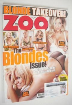 Zoo magazine - The Blondes Issue cover (28 August-3 September 2009)