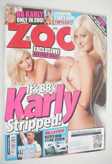 <!--2009-07-31-->Zoo magazine - Karly Ashworth cover (31 July-6 August 2009