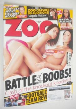 Zoo magazine - Sammy Braddy and Alice Goodwin cover (29 January-4 February 2010)