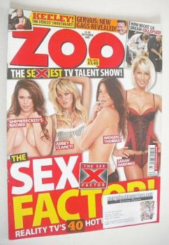 Zoo magazine - Sex Factor cover (14-20 September 2007)