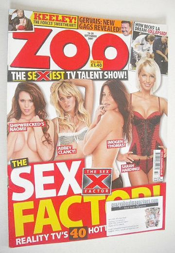 <!--2007-09-14-->Zoo magazine - Sex Factor cover (14-20 September 2007)