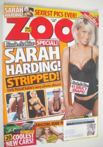<!--2008-01-11-->Zoo magazine - Sarah Harding cover (11-17 January 2008)