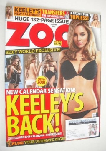 <!--2007-09-07-->Zoo magazine - Keeley Hazell cover (7-13 September 2007 -