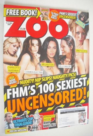 <!--2008-05-16-->Zoo magazine - 100 Sexiest cover (16-22 May 2008)