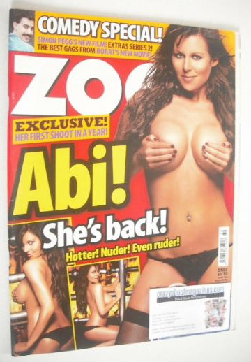 <!--2006-09-08-->Zoo magazine - Abi Titmuss cover (8-14 September 2006)