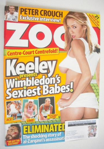<!--2006-06-23-->Zoo magazine - Keeley Hazell cover (23-29 June 2006)