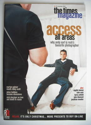 <!--2000-11-25-->The Times magazine - Robbie Williams cover (25 November 20