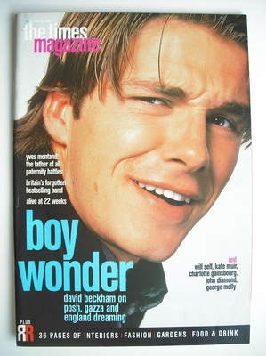 <!--1998-03-21-->The Times magazine - David Beckham cover (21 March 1998)
