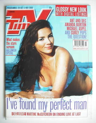 <!--2000-10-28-->TV Times magazine - Martine McCutcheon cover (28 October -