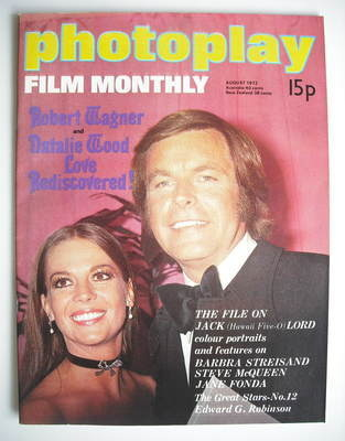 Photoplay magazine - Robert Wagner and Natalie Wood cover (August 1972)