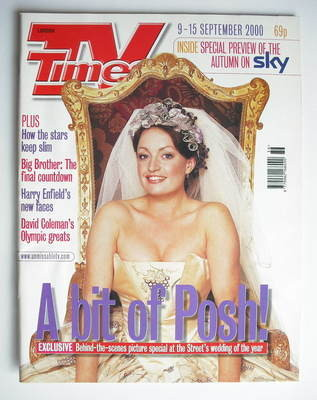 <!--2000-09-09-->TV Times magazine - Jacqueline Pirie cover (9-15 September