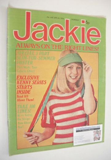 <!--1976-04-24-->Jackie magazine - 24 April 1976 (Issue 642)