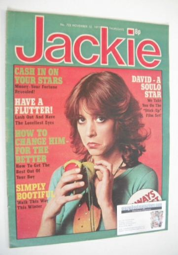 <!--1977-11-12-->Jackie magazine - 12 November 1977 (Issue 723)