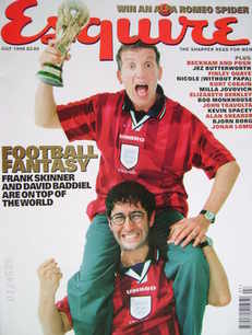 <!--1998-07-->Esquire magazine - Frank Skinner and David Baddiel cover (Jul
