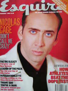 <!--1996-02-->Esquire magazine - Nicolas Cage cover (February 1996)