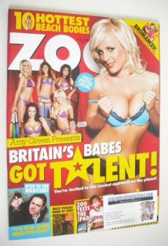 Zoo magazine - Britain's Babes Got Talent cover (30 April - 6 May 2010)