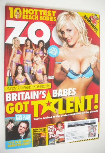 <!--2010-04-30-->Zoo magazine - Britain's Babes Got Talent cover (30 April