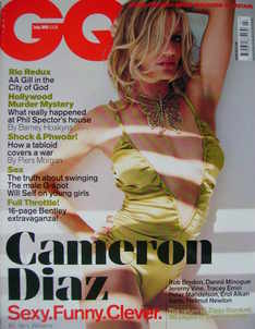 <!--2003-07-->British GQ magazine - July 2003 - Cameron Diaz cover