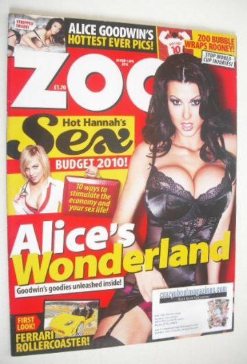 <!--2010-03-26-->Zoo magazine - Alice Goodwin cover (26 March - 1 April 201