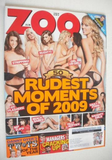 <!--2009-12-24-->Zoo magazine - Rudest Moments of 2009 cover (24 December 2