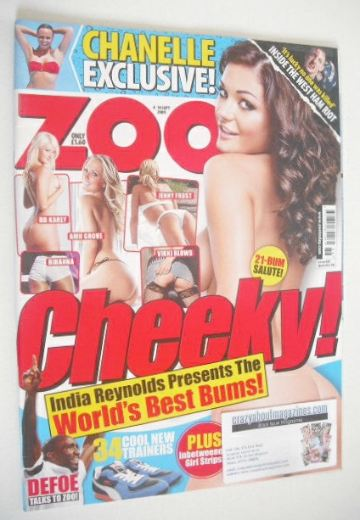 <!--2009-09-04-->Zoo magazine - India Reynolds cover (4-10 September 2009)