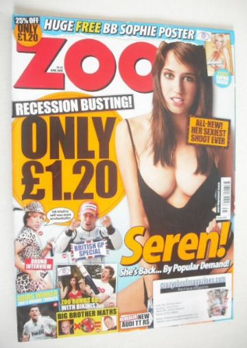 <!--2009-06-19-->Zoo magazine - Seren Gibson cover (19-25 June 2009)