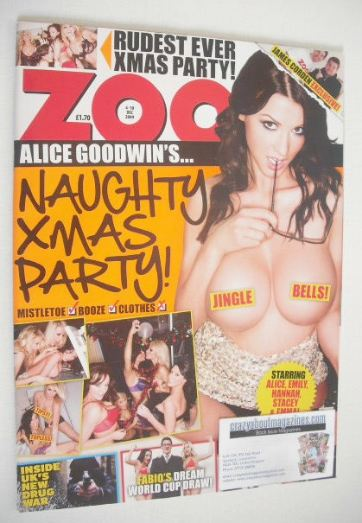 <!--2009-12-04-->Zoo magazine - Alice Goodwin cover (4-10 December 2009)