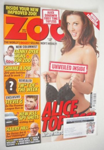 <!--2009-05-08-->Zoo magazine - Alice Goodwin cover (8-14 May 2009)
