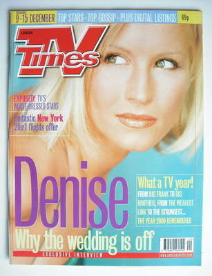 <!--2000-12-09-->TV Times magazine - Denise Van Outen cover (9-15 December