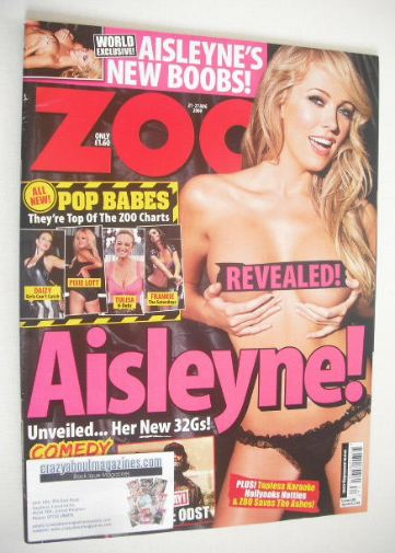 <!--2009-08-21-->Zoo magazine - Aisleyne Horgan-Wallace cover (21-27 August