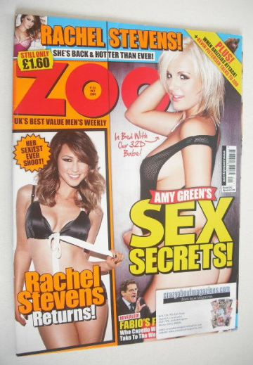 <!--2009-10-09-->Zoo magazine - Amy Green cover (9-15 October 2009)