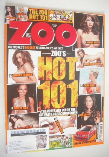 <!--2009-07-17-->Zoo magazine - Zoo's Hot 101 cover (17-23 July 2009)