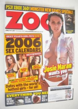 Zoo magazine - Josie Maran cover (7-13 October 2005)