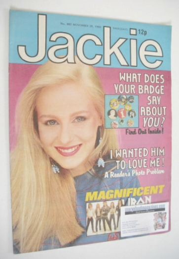 <!--1980-11-29-->Jackie magazine - 29 November 1980 (Issue 882)