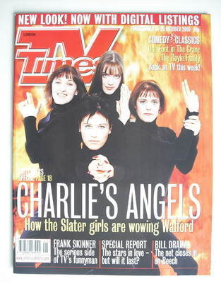 <!--2000-10-14-->TV Times magazine - The Slater Girls (14-20 October 2000)