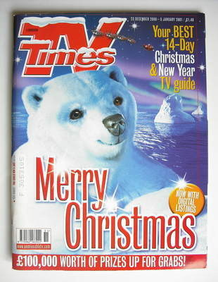 <!--2000-12-23-->TV Times magazine - Merry Christmas cover (23 December 200