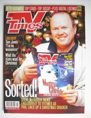 <!--2000-12-16-->TV Times magazine - Steve McFadden cover (16-22 December 2