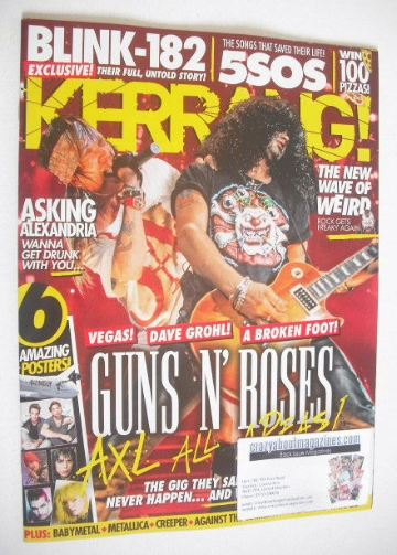 <!--2016-04-16-->Kerrang magazine - Guns N' Roses cover (16 April 2016 - Is