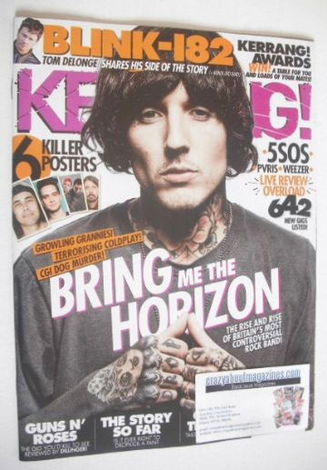 <!--2016-04-23-->Kerrang magazine - Oli Sykes cover (23 April 2016 - Issue