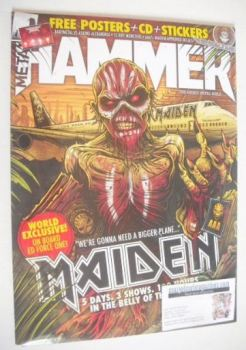 Metal Hammer magazine - Iron Maiden cover (May 2016)