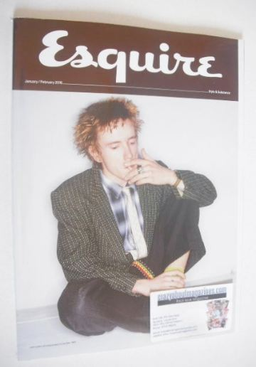 <!--2016-01-->Esquire magazine - John Lydon cover (January/February 2016 -