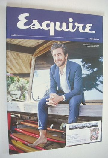<!--2015-07-->Esquire magazine - Jake Gyllenhaal cover (July 2015 - Subscri