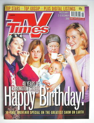 <!--2000-12-02-->TV Times magazine - 40 Years Of Coronation Street cover (2