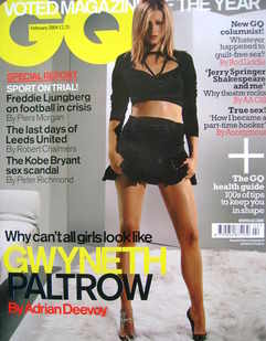 <!--2004-02-->British GQ magazine - February 2004 - Gwyneth Paltrow cover