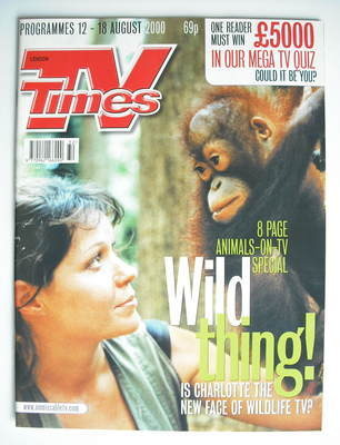 <!--2000-08-12-->TV Times magazine - Charlotte Uhlenbroek cover (12-18 Augu