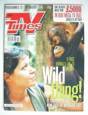 <!--2000-08-12-->TV Times magazine - Charlotte Uhlenbroek cover (12-18 Augu