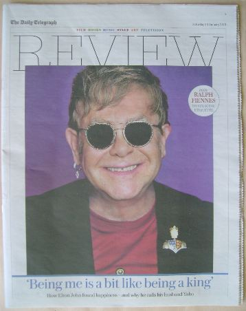 The Daily Telegraph Review newspaper supplement - 30 January 2016 - Elton J