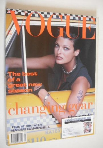 <!--1992-09-->British Vogue magazine - September 1992 - Linda Evangelista c