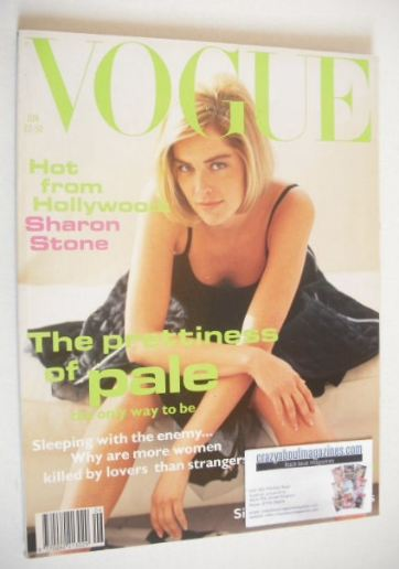 <!--1992-06-->British Vogue magazine - June 1992 - Sharon Stone cover